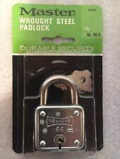 Vintage Master Lock No. 66 Padlock New Old Stock Keys