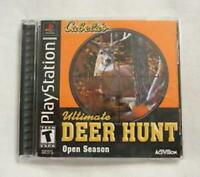 Cabela's Ultimate Deer Hunt Open Season Playstation 1 PS1 Game Used