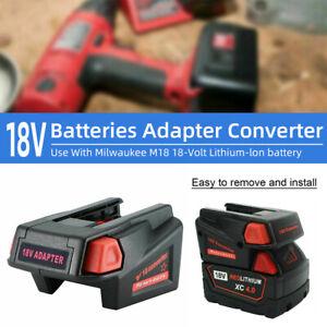 Adapter Converter For Milwaukee M18 18V To V18 Li Battery USB Phone Charger New