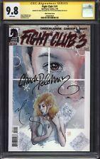 FIGHT CLUB 3 #1 (Mack Variant) CGC 9.8 SS / Signed by Chuck Palahniuk & Mack!