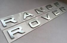 OEM RANGE ROVER Emblem Chrome Silver Letters Badge Logo Front Rear Hood