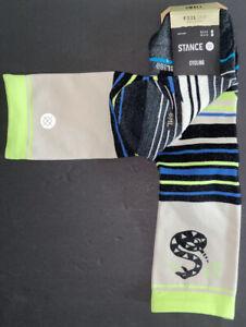 Stance Feel360 Cycling Ultralight Crew Socks, Unisex, Pile Up Snake, NWT