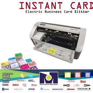 SMART CARD Cutter Full-bleed 10-Up Electric Business Card Slitter DIY Ships Free