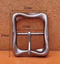Personalized Novelty Heavy Strong Bike Men Retro Center Bar Pin Belt Buckle 40mm
