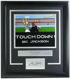 Bo Jackson Framed Raiders Tecmo Bowl 8x10 Photo w/ Laser Signature