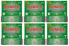 6 PACK PUMICE HEAVY DUTY SCOURING STICK / STONE HOUSEHOLD TOILET SINK CLEANER