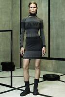 Alexander Wang x HM logo Bodycon Jacquard Knit dress Size Small