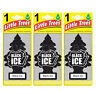 3x Black Ice Little Trees Hanging Air Freshener Car Truck RV Home Office