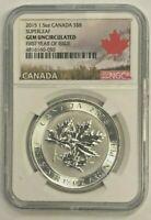 2015 Silver $8 Silver Canadian Maple Leaf 1.5 oz BU NGC SuperLeaf