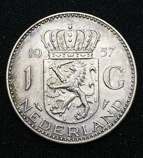 Pays-Bas 1 Gulden Juliana 1957 en argent