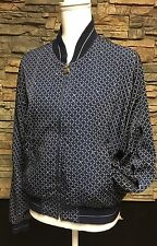 Womens Tail Tennis Golf Jacket Full Zip Front Pockets Navy Blue Medium