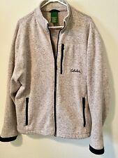 Cabelas Womens Sweater Sweatshirt Sweater Full Zip Up Size Large SUPER SOFT!