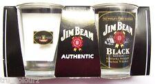 **NEW** Genuine Authentic Jim Beam Black Shot Glasses 2 pack