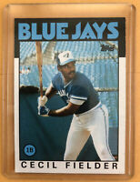 1986 Topps #386 Cecil Fielder Rookie Card! Blue Jays Great! Mint! Free Shipping