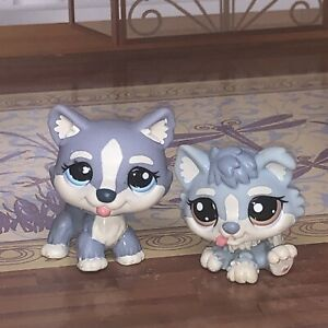 Littlest Pet Shop #1683 and #1684 Mommy and Baby Husky