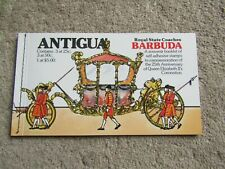 Antigua - Royal State Coaches Booklet 1978 - Silver Jubilee Queen Elizabeth II