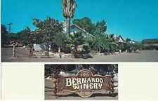 Bernardo Winery, Rancho Bernardo, California, Founded 1889, Unposted- Postcard