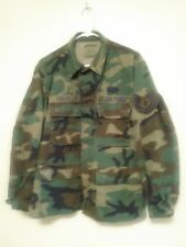 USAF Hot Weather Coat Combat Pattern Named W/ Patches Size Med/Short