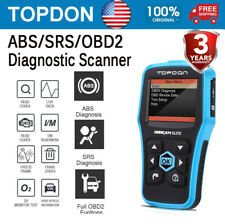TOPDON Elite Car ABS Airbag SRS Reset OBD2II Scanner Code Reader Diagnostic Tool