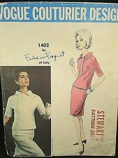 Vogue Couturier Design Pattern 1402 Federico Forquet of Italy Size 16