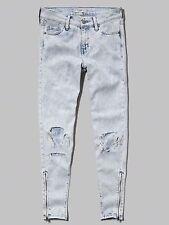 Abercrombie & Fitch Women's 10 Allie Boyfriend Slouch Destroyed Acid Wash Jeans