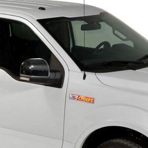 Kansas City Chiefs NFL 2 Pack Aluminum Emblem Car Truck Edition Decal Sticker