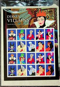Disney Villians - Pane of 20 Forever US Stamps - Sealed