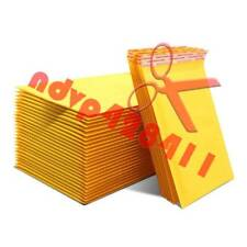 50/100pcs Yellow Kraft Bubble Mailers Padded Envelopes Shipping Bags Self Seal