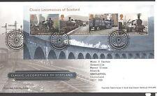 GB 2012 FDC Classic Locomotives of Scotland MINISHEET Edinburgh pmk set stamps