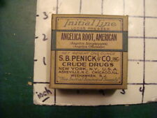 unused old store stock - S B PENICK & co CRUDE DRUGS - ANGELICA ROOT