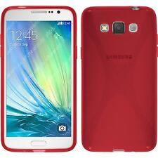 Coque en Silicone Samsung Galaxy Grand 3 - X-Style rouge + films de protection