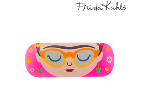 Sass & Belle Viva La Frida Kahlo Pink Hard Reading Glasses Case Gift