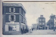 CPA  CORLAY 22 -  GRAND-RUE DRAPERIE BERTHELOT HOTEL ADAM AUTO ANIME 1914 ~B64