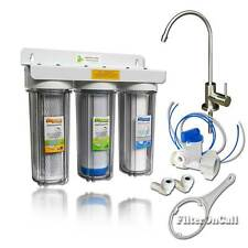 Premium 3 Stage Water Filter System Lead Free ClearHousing Brushed Nickel faucet
