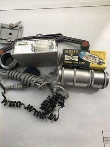 lot of misc. vintage camera parts- SPIRA-LITE/SYLVANIA TRU-Focus lamp/Etc.