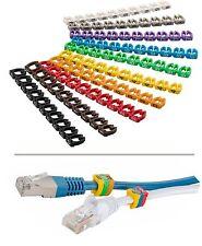 100x Kabelmarkierer, Clip mit 10 Ziffern 0-9; für Kabel 4-6 mm; z.B. Netzwerk