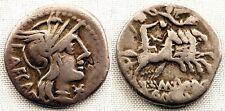 Republica Romana-Marcius Porcius. Denario. 125 a. C. Roma. MBC/VF. Plata 3,75 g