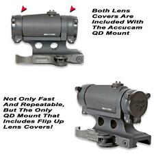 GG&G AIMPOINT T-1 AND H-1 ACCUCAM QUICK DETACH MOUNT WITH INTEGRAL LENS COVERS