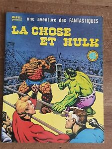 "Fantastic 4 The Thing vs The Hulk, ""La Chose Et Hulk"" french comic book 1979"