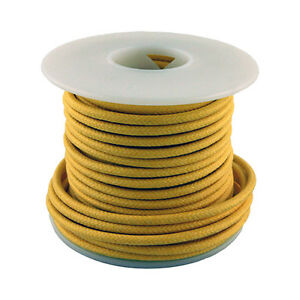 20 Gauge Stranded Cloth Wire 50 Feet, Yellow