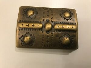 Vintage,Tribal,Ethnic,Viking,Saxon,Medieval Military belt buckle.Antique brass .