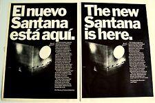 Santana 1972 Poster Ad Caravanserai el nuevo santana