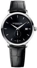 Raymond Weil Toccata cuero negro esfera hombre suizo reloj Rw-5484-stc-20001