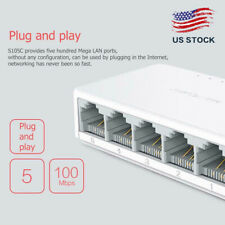Mini 5 Ports Ethernet Switch Ethernet Network Switch 10/100Mbps LAN Hub Splitter