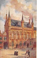 B93357 bruges l hotel de ville painting  belgium  postcard