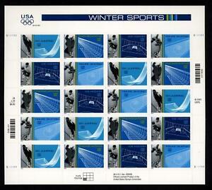 SCOTT 3552-55 2002 34 CENT WINTER OLYMPICS ISSUE MINT SHEET NH VF CAT $19!