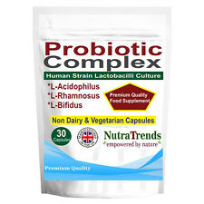 Probiotics Complex,Acidophilus + Bifidus Cultures Vegan ,non dairy 30 Capsules