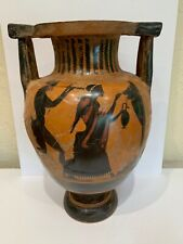 Ancient Greek Attic black figure pottery column Kratzer 19� heavily restored