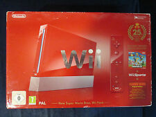 Console WII rouge Edition 25th anniversary Mario / EN BOITE complète / BE