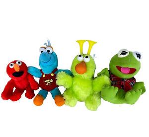Lot of 4 Muppet Sesame Street Plush Stuffed Toy ~ Kermit, Honker, Gonzo & Elmo